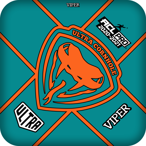 Ultra Cornhole Viper Teal ACL Pro Series Approved