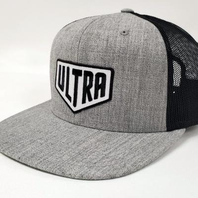 Ultra Cornhole Flat Billed Hat in Gray