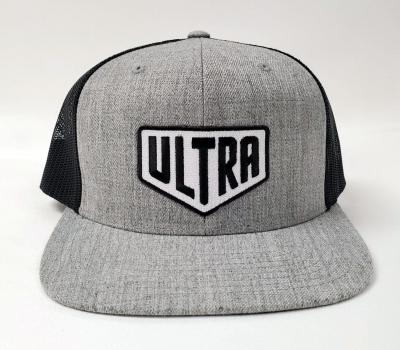 Ultra Cornhole Flat Billed Hat in Gray - Front