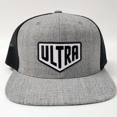 Ultra Cornhole Flat Billed Hat in Gray - Front