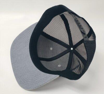 Ultra Cornhole Flat Billed Hat in Gray - Inside