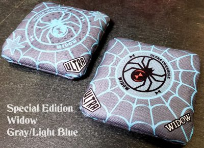 Ultra Cornhole Widow Gray and Light Blue