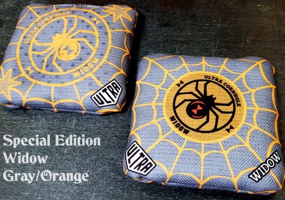 Ultra Cornhole Widow Gray and Orange