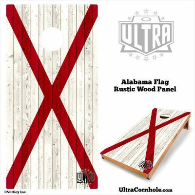 Alabama - Rustic Wood Custom Cornhole Board