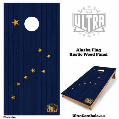 Alaska - Rustic Wood Custom Cornhole Board