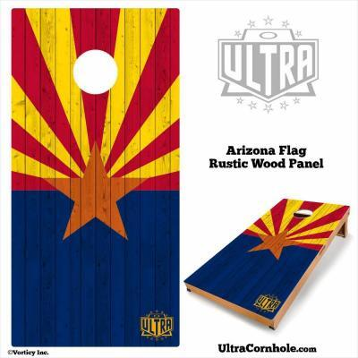Arizona - Rustic Wood Custom Cornhole Board