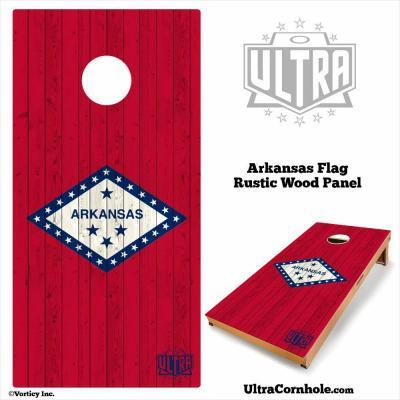 Arkansas - Rustic Wood Custom Cornhole Board