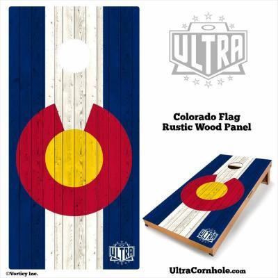 Colorado- Rustic Wood Custom Cornhole Board