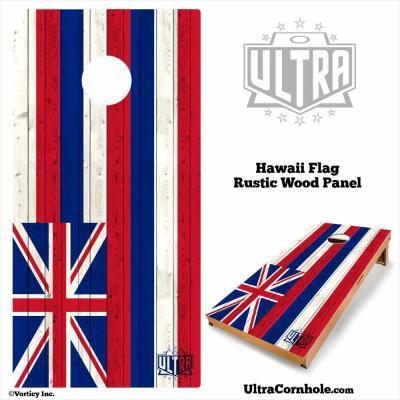 Hawaii- Rustic Wood Custom Cornhole Board
