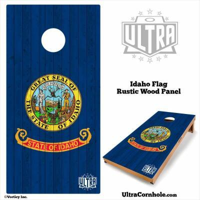 Idaho- Rustic Wood Custom Cornhole Board