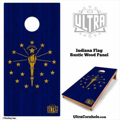 Indiana- Rustic Wood Custom Cornhole Board