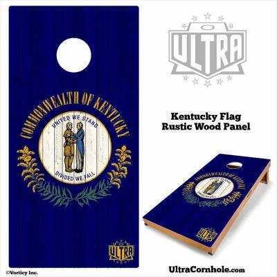 Kentucky - Rustic Wood Custom Cornhole Board