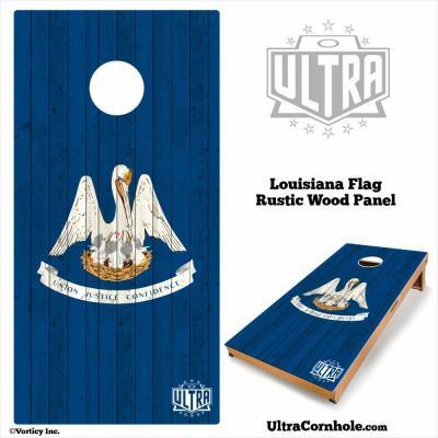 Louisiana - Rustic Wood Custom Cornhole Board