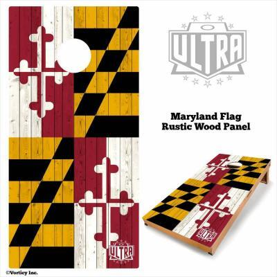 Maryland - Rustic Wood Custom Cornhole Board