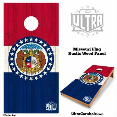 Missouri - Rustic Wood Custom Cornhole Board