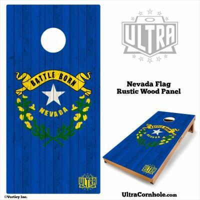 Nevada- Rustic Wood Custom Cornhole Board
