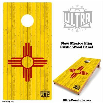 New Mexico - Rustic Wood Custom Cornhole Board