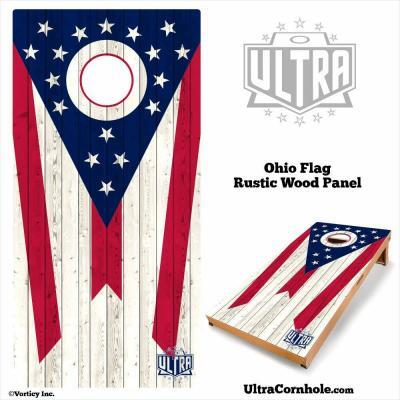Ohio- Rustic Wood Custom Cornhole Board