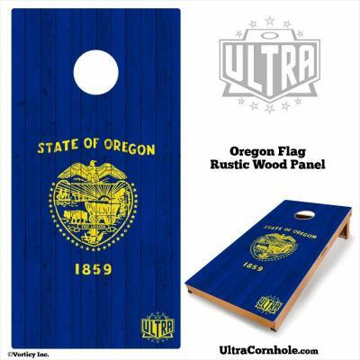 Oregon- Rustic Wood Custom Cornhole Board
