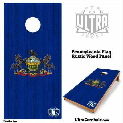 Pennsylvania - Rustic Wood Custom Cornhole Board