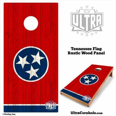 Tennessee- Rustic Wood Custom Cornhole Board