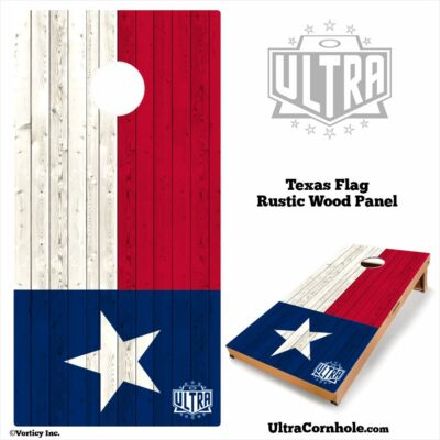 Texas - Rustic Wood Custom Cornhole Board