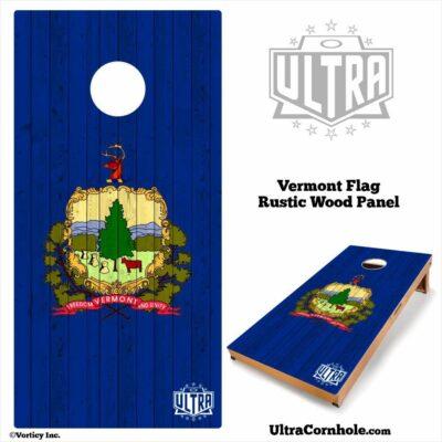 Vermont - Rustic Wood Custom Cornhole Board