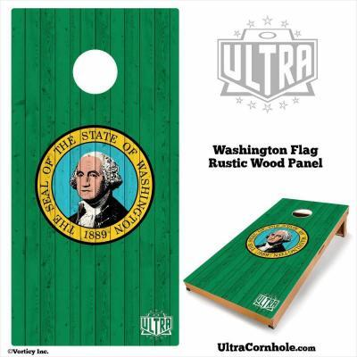 Washington - Rustic Wood Custom Cornhole Board