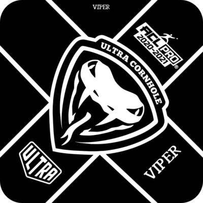 Ultra Cornhole Viper Black ACL Pro Series Approved