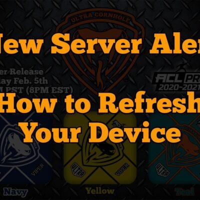 new server refresh cache alert